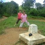 Left foot in Guatemala, Right foot in Honduras