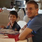 Robert with Brayan (one of Honduras' youth)