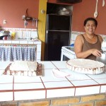 Telma baking cakes for the group