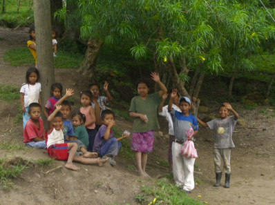 Children from El Chilar school