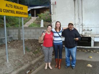 Maria and me at the Guatemala border