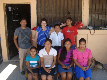 "6 of 9 of ""my"" computer based learning students in El Chilar"