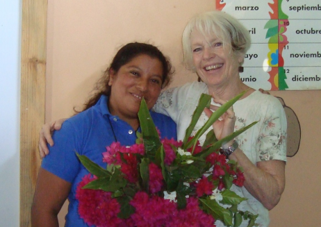 Karen. For always being there to lend an ear to my joys and concerns. Her confidence in my choosing projects by financially supporting them (especially the school in Carrizalito) has been a great support over the years.